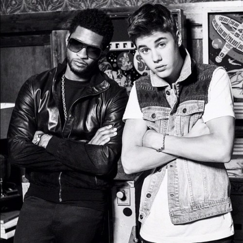 Another great shot from the @justinbieber @usherraymondiv photo shoot for the BBMAS. #justinbieber #usher #bbma (Taken with instagram)