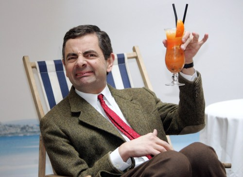 promo for Mr. Bean's Holiday Rowan Atkinson by Sean Gallup, 2007taken at the Adlon Hotel, Berlin(Getty Images) Happy Victoria Day weekend, Canada.