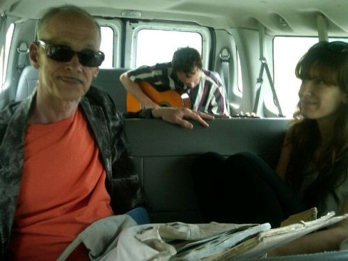 laughingsquid:  John Waters Picked up Hitchhiking by Indie Band in Ohio