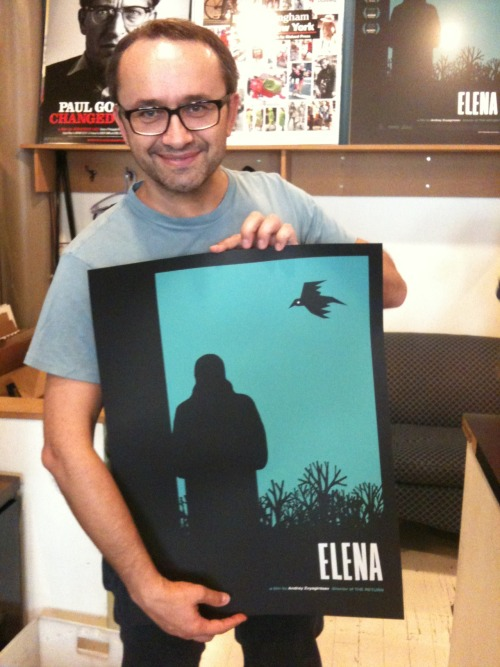 Director Andrey Zvyagintsev is a fan of the Sam Smith screenprint ELENA poster.  Don't forget: you can win one signed by the director!