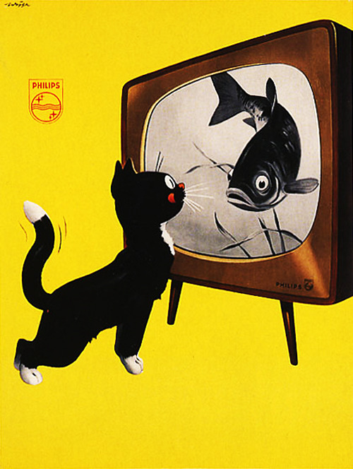 Advertisement for Philips TV, 1951