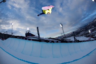 xgames:  Big ups to Elena Hight becoming the first woman to land a double backside alley-oop rodeo! Check the video here -> http://es.pn/Jz5DhF