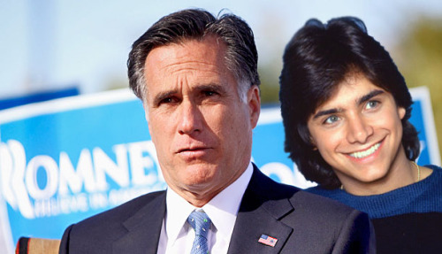Mitt Romney's best quality is his natural ability to pine for John Stamos.