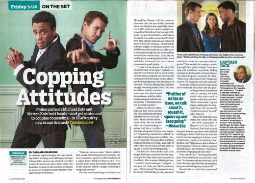 Check out @CommonLaw_USA stars Warren Kole & @MichaelEaly feature in this weeks @TVGuide