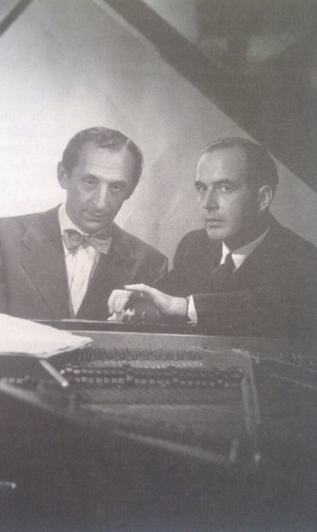 Horowitz and Samuel Barber, left to right.