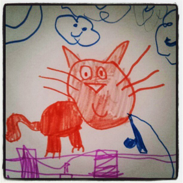 Meowwww #cat #illustrations  (Taken with instagram)