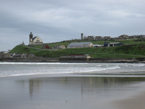 Outskirts of Macduff as seen across Banff Bay, Aberdeenshire