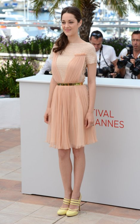 ohverily:  kingofcouture:   Dior - Spring Summer 2012 - dress Cannes 2012 Film Festival - Marion Cotillard   What would Shae wear?