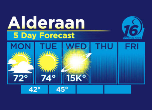Alderaan weather