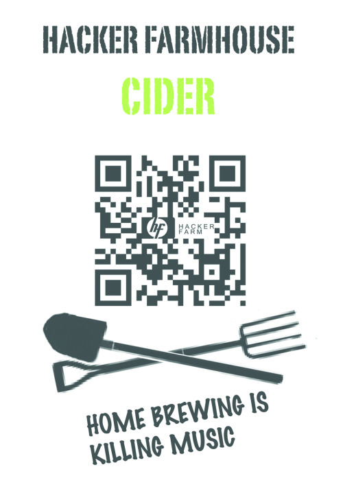 "kidshirt:  HACKER FARMHOUSE CIDER Well, yeah. Cider bottle labels, innit. Conceptual tie-in with cover of forthcoming Tool-Box cassette. I think we're going to be selling / handing out home-made cider at SVA over the weekend, probably with some sort of legal disclaimer like ""If you get lockjaw or bum-crickets from it then don't blame us"". Drank some of this at our Labour Club show and it was fucking *Proper Job*."