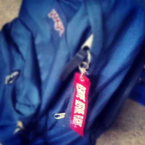 Remove before flight. #maychallenge #day17 #schoolbag #jansport #backpack #flight  (Taken with instagram)