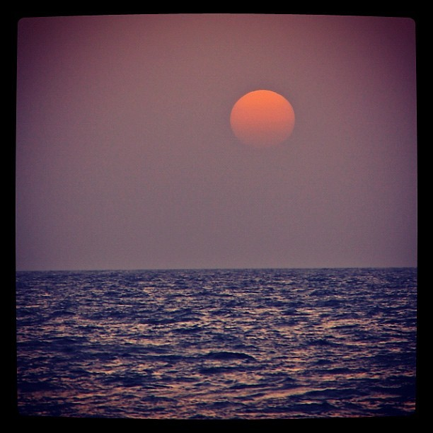 #Sunset or #Sun #rise , #Jeddah #شروق ام #غروب #جدة  (Taken with instagram)
