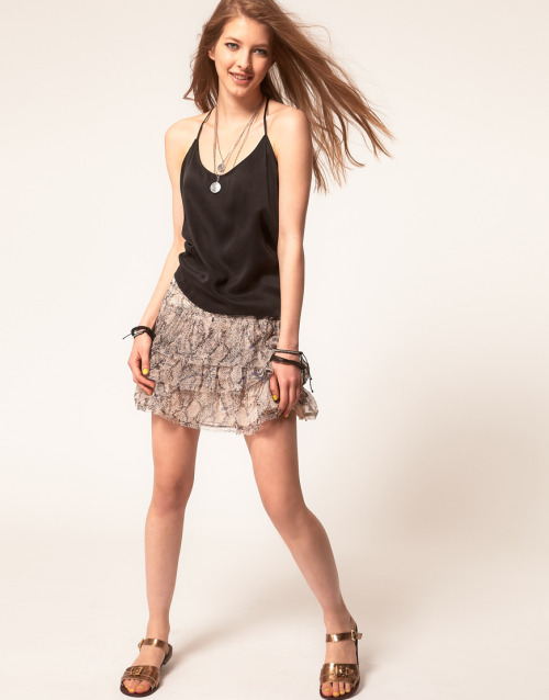 Zadig and Voltaire Layered Silk Mini Skirt in Python PrintMore photos & another fashion brands: bit.ly/JgPdw9