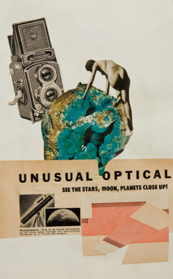 """Unusual Optical"" - Mixed media collage, 2012."