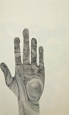 """Hand"" - Ink drawing, 2012."
