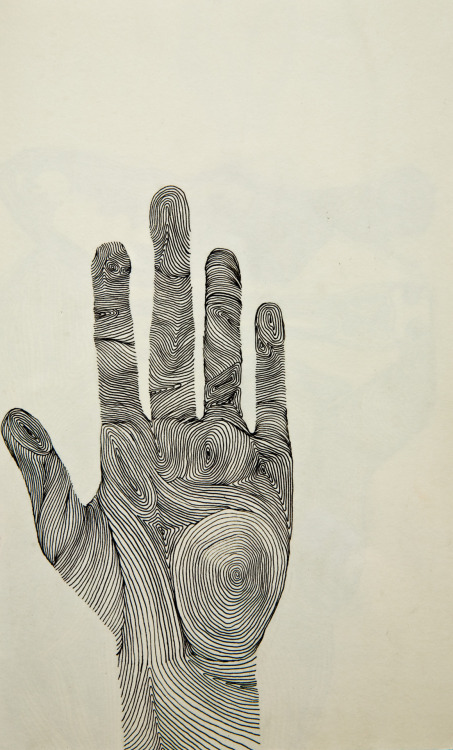 """Hand"" - Ink drawing, 2012"
