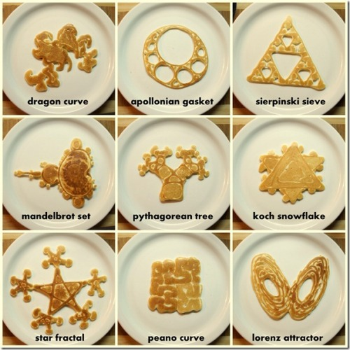 explore-blog:  Fractal pancakes? Yes, please! Just imagine the literary impersonation for Benoît Mandelbrot this lends itself to.