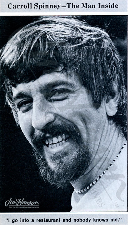 Caroll Spinney, 1971. Photo by Michel LeGrou