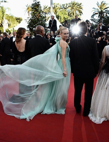 Diane Kruger in Giambattista Valli at Cannes