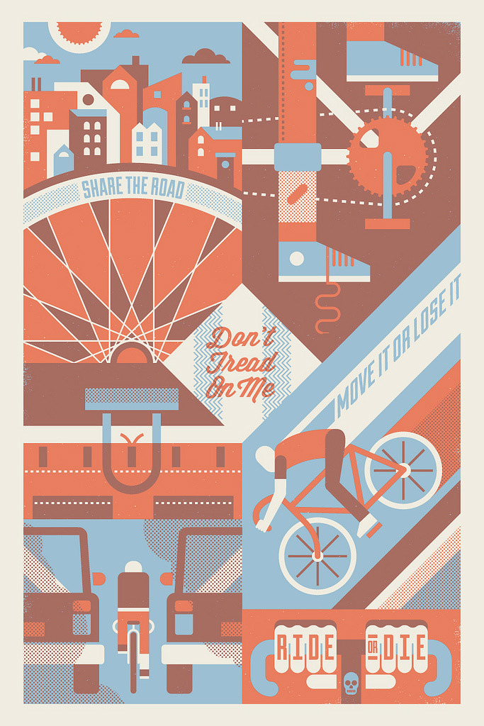 prettyclever:  Bike to work day tomorrow (via bandito design co.)