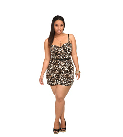 I need Torrid's Leopard Print Romper, need. It is perfect for serving body-ody-ody here in Florida summer.