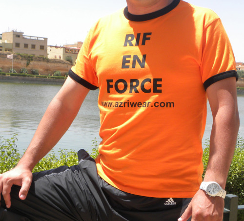 "Abdel is wearin ""Rif En Force"" T-Shirt. Photo was taken in Maknes (Morocco). Abdel: Rif - Europe"