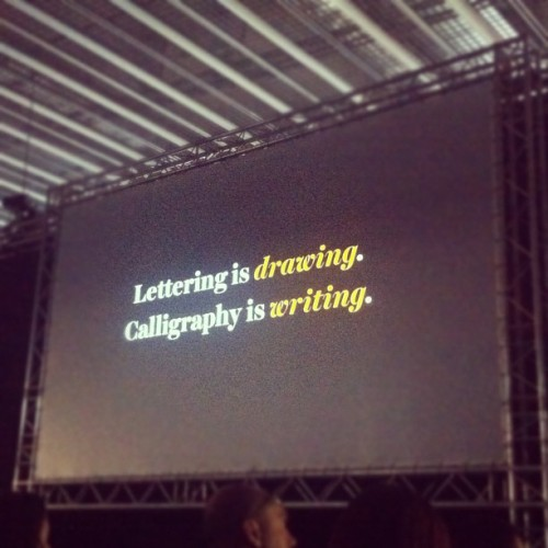 Jessica Hische at #offfbcn . Lettering is drawing. Adoro a esta chica!!! (Taken with instagram)