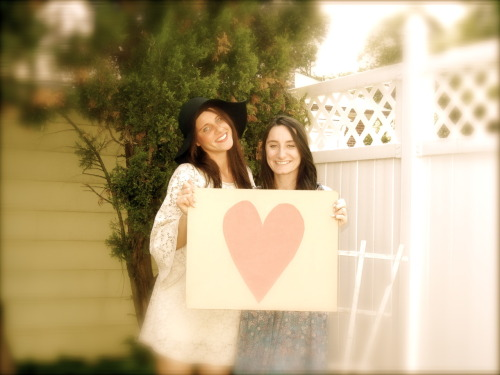Just Love.  a picture of me and my sister from a little photoshoot we did for a mothers day project.