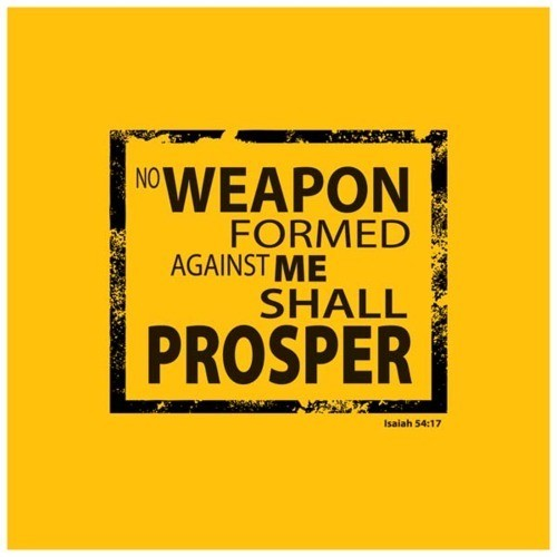 "spiritualinspiration:  ""No weapon formed against you shall prosper…"" (Isaiah 54:17, NKJ)  As a believer in Jesus, you have certain privileges because you belong to Christ. When you chose Him, God put a blood line around you that the enemy cannot cross. As long as you're keeping Him first place, you have a hedge of protection, a hedge of favor, a hedge of mercy surrounding you like a shield. When difficulties come, God says that because you're His child, because you honor Him, even though that problem has formed, in the end it is not going to prosper. When it's all said and done, it's not going to harm you. God is going to turn it around and use it to your advantage. That's your heritage as a believer!  Notice it doesn't say we'll never have problems. No, life is full of difficulties. The promise God is making to us is that when things do come against us, because you're in covenant relationship with Him, you can stay in peace knowing that it is not going to prosper. He has already paved the way for you to live in victory in every area of your life!"