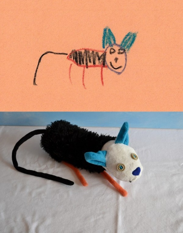 There is a company which makes toys based on children's drawings