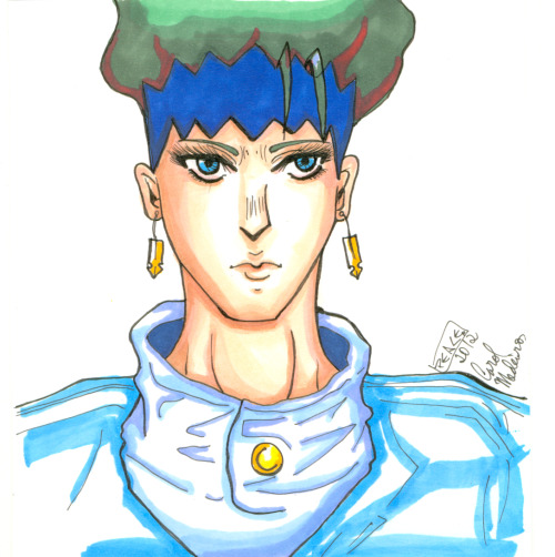 infinitylands:  Testing my markers and end up sketching Rohan Kishibe. LOL I just adore this guy. ♥