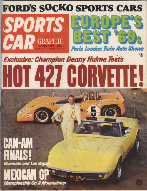 1969 Corvette..vintage magazine cover