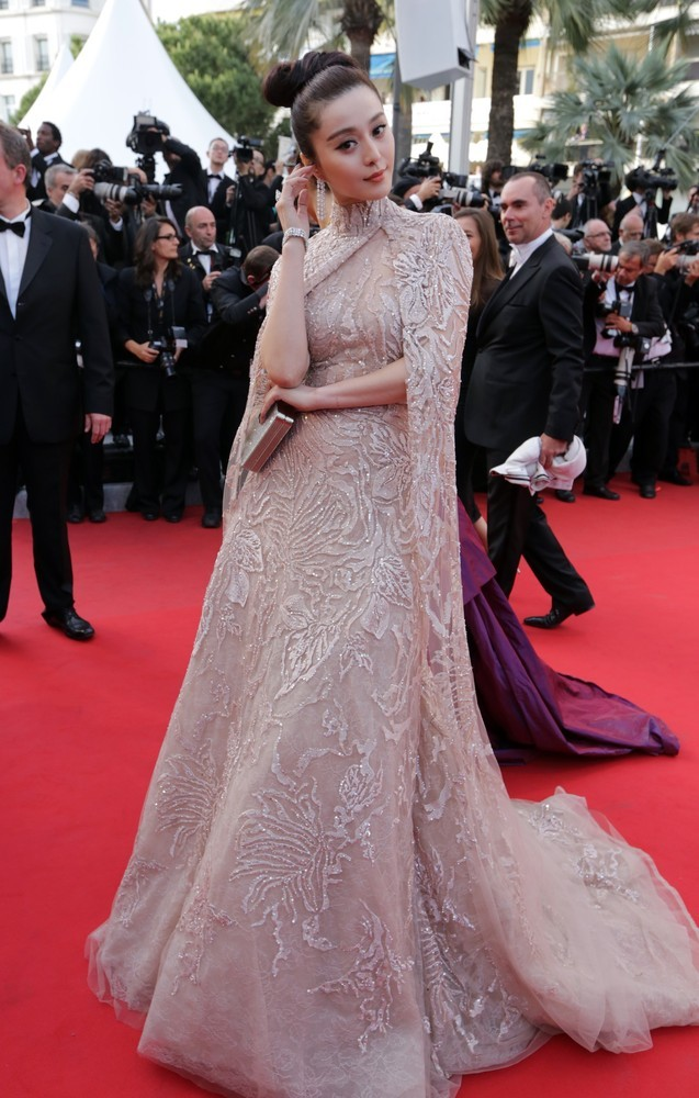 Fan Bingbing in Elie Saab at the Cannes Film Festival premiere of De Rouille et D'Os, May 17th