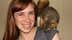My friends think I'm a hipster because… I have a pet squirrel.