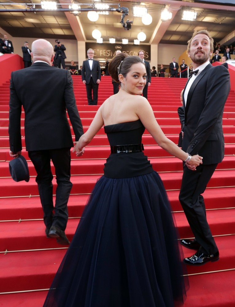 Marion Cotillard in Dior at the premiere of De Rouille et D'Os at the Cannes Film Festival, May 17th