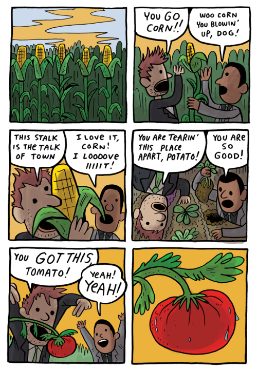 gunshowcomic:  why won't these men leave my farm STALK TO ME BABY SHOW ME THE HONEY RICE TO MEET YOU TURNIP THAT FROWN UPSIDE DOWN MY TIRE IS FLAT I'LL USE ASPARAGUS.   That's all i had in me, okay good bye. See You Next Monday CUNM (??)   me n ekattz with our produce