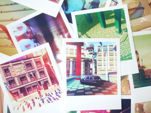 I turned some of my JSRF photos into Polaroid-style prints for an art project I'm currently working on, something interesting to me about spaces that aren't really spaces, photographed with a retro camera that isn't really a retro camera, appearing on Polaroids that aren't really Polaroids. Anyway, sorry for the lack of activity of late, many more photos are on the way and I'll be posting more of my project too.