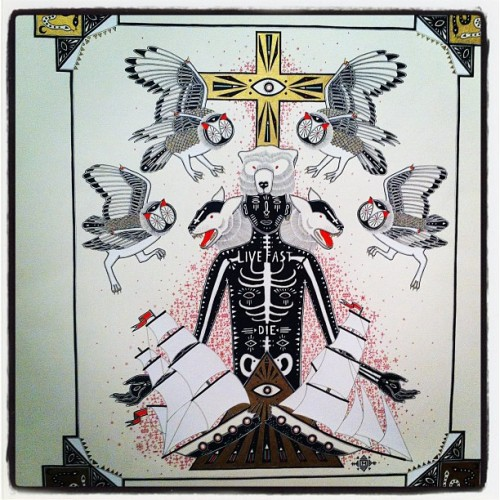 Live fast die. Artwork by Minka Sicklinger  (Taken with instagram)