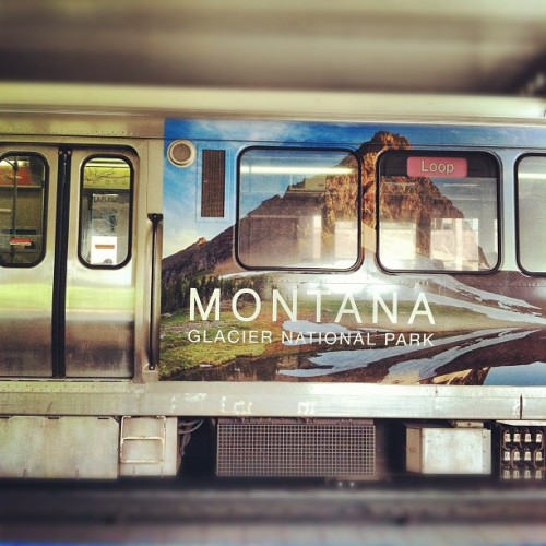 #Chicago #CTA #EL #Montana. #Train #Station  (Taken with instagram)