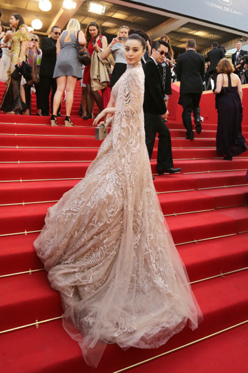 Fan Bingbing in Elie Saab at the premiere of De Rouille et D'Os at the Cannes Film Festival, May 17th