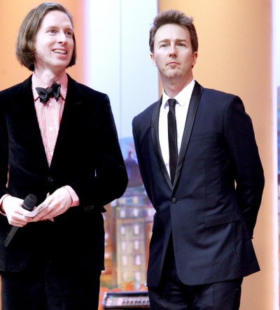 Wes Anderson & Edward Norton, Cannes Film Festival May 2012.
