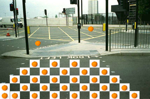 Orange Crossing a photographic response to Rucha's 6mins video 'laranja' a everyday drama in non-place photograph created as a research purpose for f5postcardsfromnowhere.tumblr.com Junnan Li