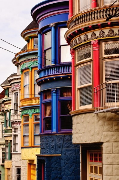 Colorful Townhouses in San Francisco ~