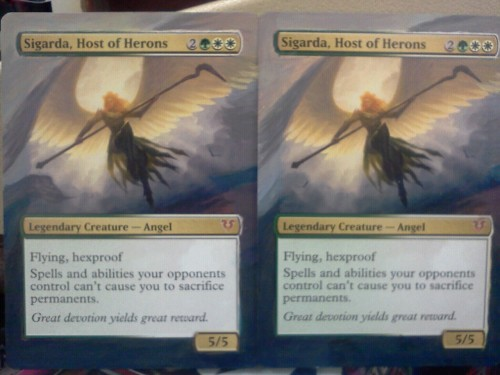 New angels!  One is taking over my Tolsimir deck and I one is going into my Jenara deck.
