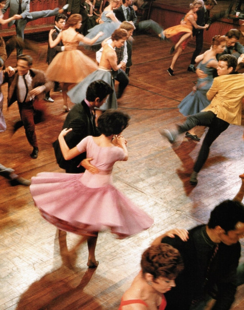 velveteen:  Rita Moreno, George Chakiris and Russ Tamblyn in West Side Story (1961) directed by Robert Wise and Jerome Robbins; photographed by Ernst Haas