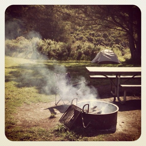 #camping #bigsur #california #iphoneography #ca  (Taken with Instagram at Big Sur, CA)