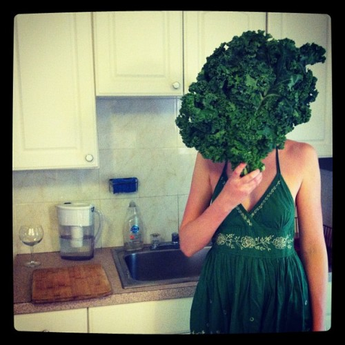 Kale Lady aka my foodie roomie (Taken with instagram)