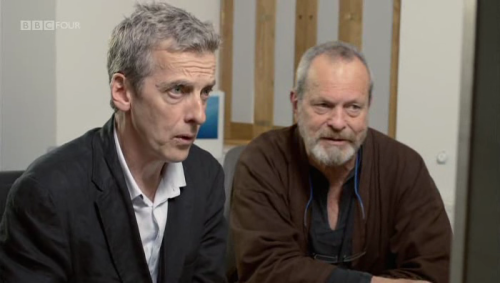 tumblr m47531iyV41r2xpibo1 500 Peter Capaldi and Terry Gilliam