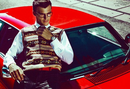 mensfashionworld:  Patrick Kafka by Kosmas Pavlos in Liaison Rouge