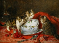 stilllifequickheart:  Louis Eugéne Lambert Kittens Playing 19th century